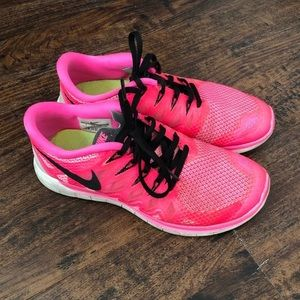Hot Pink Nike Free Women's Sneakers